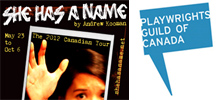 She Has a Name script now available from Playwright Guild of Canada